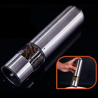 Stainless Steel Electric Automatic Pepper Mills Salt Grinder Silver 2020