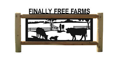 Angus Cattle Outdoor Signs - Farm And Ranch Decor