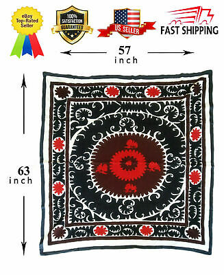 Uzbek Hand Embroidery Wall Hanging Vintage Tablecloth Suzani SALE WAS $330.00