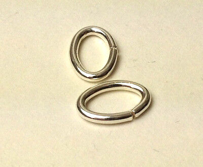#721 sterling silver oval open jump rings