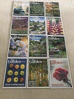 RHS The Garden Magazine 12 Issues January to December 2019