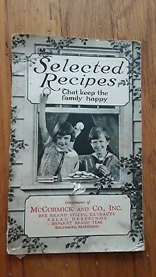 1928 McCormick Selected Recipes that Keep the Family Happy