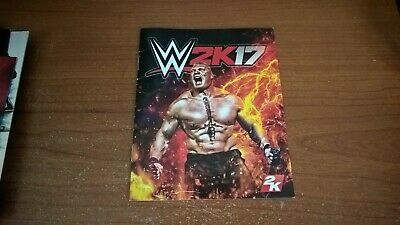 WWE 2K17 Sony Playstation 3 PS3 Instruction Manual Only VGC PAL