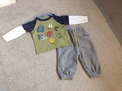 Baby Boys 3-6 Month Marks & Spencer Indigo Baby Outfit