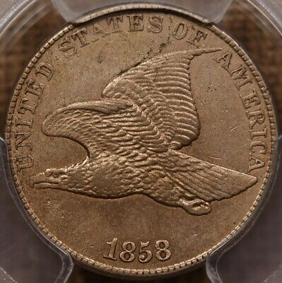 1858 LL Flying Eagle cent, PCGS XF45, very pleasing example   DavidKahnRareCoins