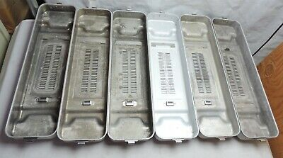 Aesculap Sterilization Scope Instrument Container Tray Lot with No Lids JM021