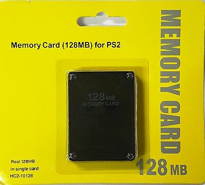 New128Mb Memory Card For Sony Playstation 2 Ps2 (New And Sealed)