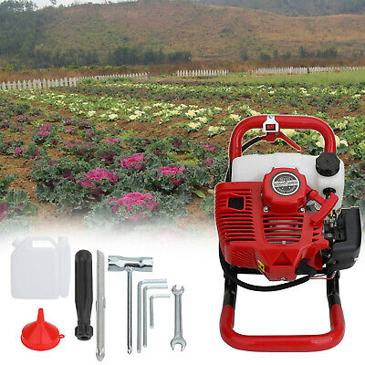 52cc 2-Stroke Gasoline Gas One Man Post Hole Digger Earth Auger Machine 2hp EPA