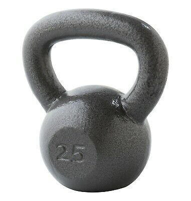 Weider Kettlebell Hammertone Grey Cast Iron (In Stock) FREE SHIPPING 20 & 25 lb