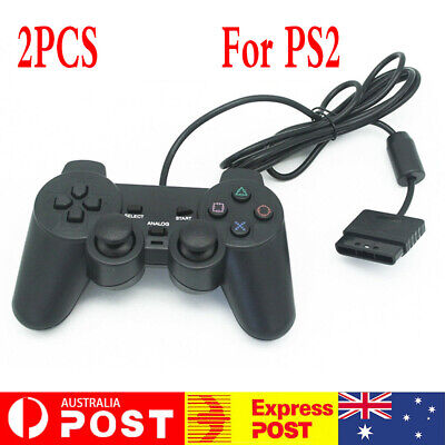 2x For PS2 PlayStation 2 Wire Cable Controller Dual Shock Gamepad Console Joypad