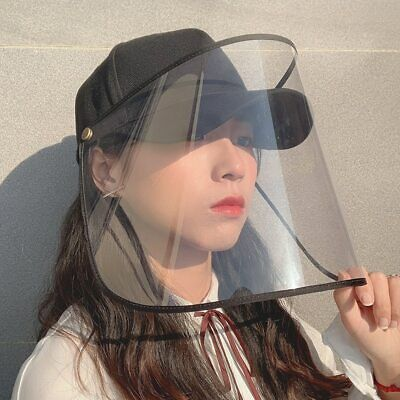 Face Shield Cap Cover Full Face Eye Protective Anti-saliva Anti-Dust Removable