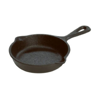 Cast Iron Fire Cooking Skillet Compact Frying Pan Camping Cookware Outdoor Fry