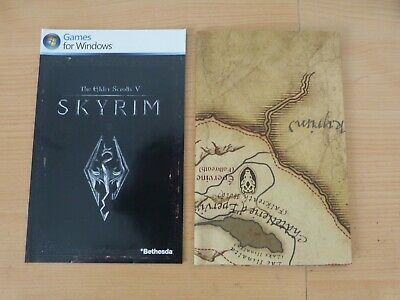 Carte livret notice Skyrim PC PS4 Xbox one 360 PS3 Switch comme neuf mint VF