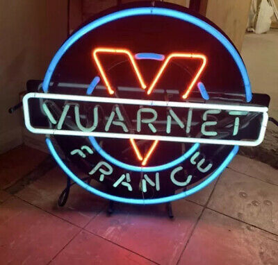 Neon Sign Vaurnet Sunglasses Lighted Collectible 1980's Dealership Great Logo !!