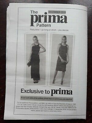 PRIMA MAKES SEWING SPECIAL FREE WRAP DRESS PATTERN ALL NEW IN PACK !