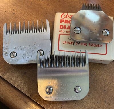 Vintage Oster Electric Clipper A5 Model 80 Detachable Blade Lot.