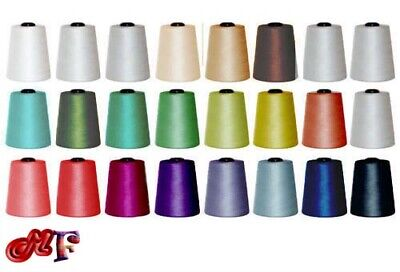 5000 YARDS X 4 CONES SEWING THREAD POLYESTER, OVERLOCKING 120s SPUN