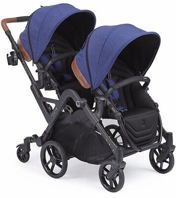 Contours Curve Double Tandem Stroller in Indigo Blue - BRAND NEW! (See Details)