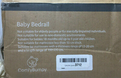 Comfy Bumpy Toddler Bed Rail Baby Safety Guard Bedrail Kids Grey All Beds