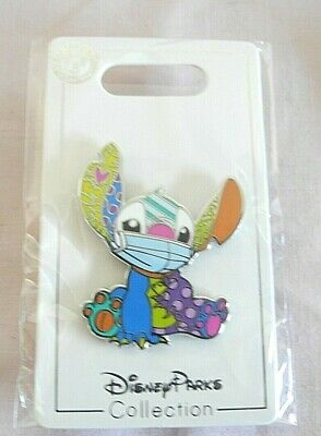 Disney FANTASY Pin Multicolor Stitch Face Mask FAN MADE PIN 1.75 ""