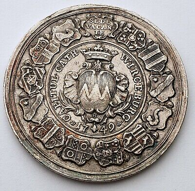 1749 Wurzburg German States silver medal - Sede Vacante issue
