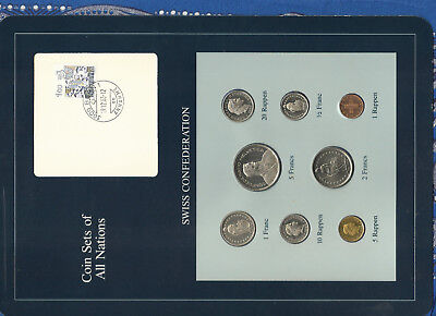 Coin Sets of All Nations Switzerland 1981-1983 UNC 5 Francs 1983 2 Francs 1981