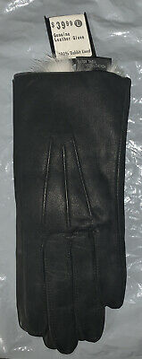 Genuine Leather Ladies Gloves 100% Rabbit Lined Size Large Wilson's Leather