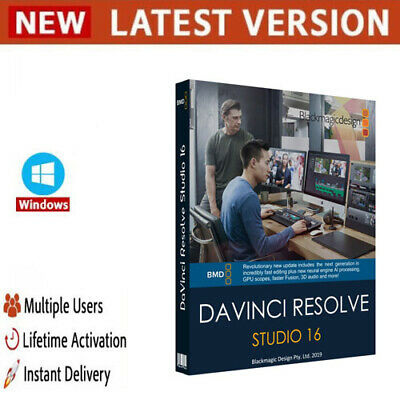 DaVinci Resolve Studio 16.2✔️Full Version✔️Lifetime✔️Windows✔️
