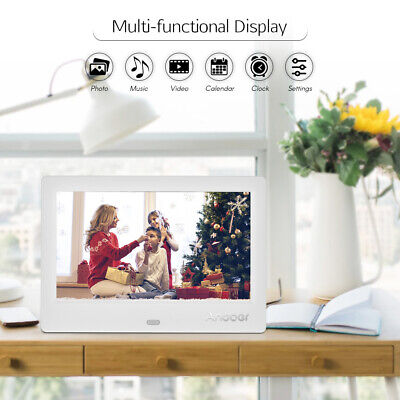 Andoer 7 inch Digital Photo Frame 16:9 LED Support Music /Video /Clock -UK Stock