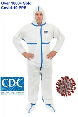 Viroguard Protective Coverall PPE Tyvek Hazmat Bunny Suit - Size Medium