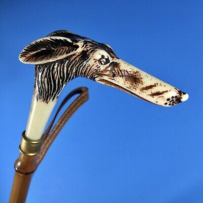 """Vintage Whippet or Greyhound Dog Shoe Horn - 22.5"""" Shoehorn Cane ~ Perfect Gift!"""