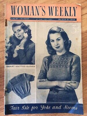 Vintage Woman's Weekly Magazine March 12th 1949