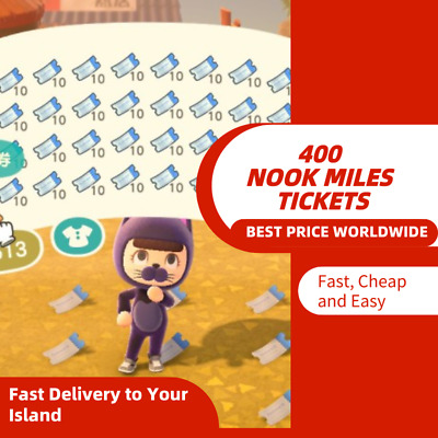 Animal Crossing : 400 Nook Miles Tickets Fast Deliver Best Price Worldwide