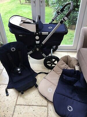 Stunning Bugaboo Cameleon 3 Classic Special Edition In Navy And Cream