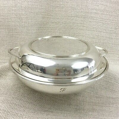 Antique Tureen Silver Plated Covered Vegetable Serving Dish Bowl Mappin Webb