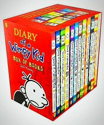 Diary Of A Wimpy Kid Collection - 12 Books Box Set Collection - Jeff Kinney ✅✅