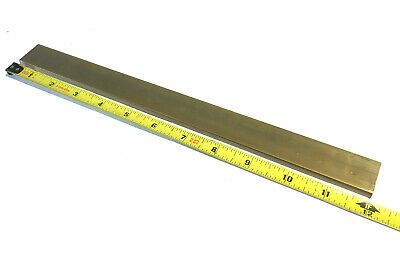 "1/4"" x 1"" C360 BRASS FLAT BAR 12"" long Solid .250"" Mill Stock H02 .25""x 1.00"""