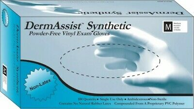 DermAssist Vinyl Gloves (Med) 100 per box Powder-Free/Latex Free Medical Gloves