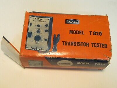 Vintage Cairad Model T820 Transistor Tester With Instructions And Box !!!!!!!!!!