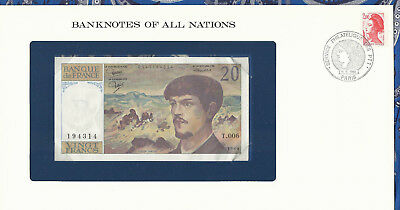 *Banknotes of All Nations France 20 Franc 1980 AUNC P 151a series Birthday 1943