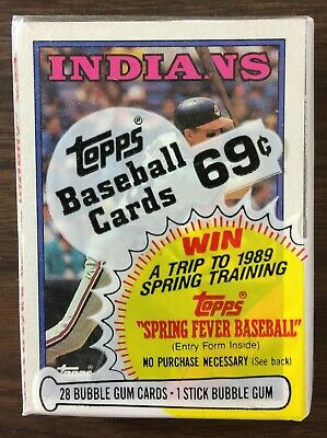 1988 TOPPS Cello Pack CORY SNYDER on Top #391 PUCKETT A/S LDR on Back E5020313