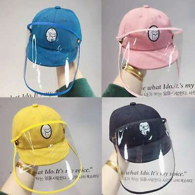Removable Kids sun hat Protective cap Face Shield Safety Cartoon Face Protection