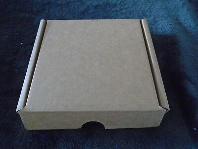 5 x brown  cardboard postage boxes fit large letter post
