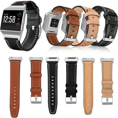 Leather Wrist Strap Replacement Watch Band For Fitbit Ionic Smart Bracelet new