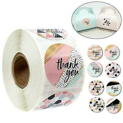 500/Roll Thank You Stickers For Your Purchase Business Label Round Heart Wedding