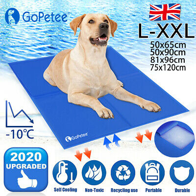 Cooling Gel Mat For Dog Cat Pet Self Cooling Pillows Summer Hot Weather Bed Pads