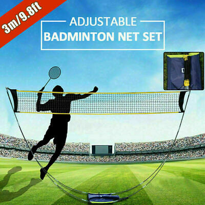 Portable Foldable Badminton Tennis Volleyball Net Outdoor Beach Sports Stand Set