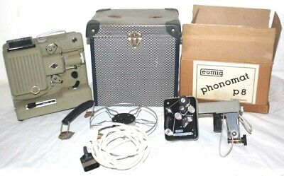 Vintage Eumig Photomat P8 Movie Projector In Original Case [PL4144]