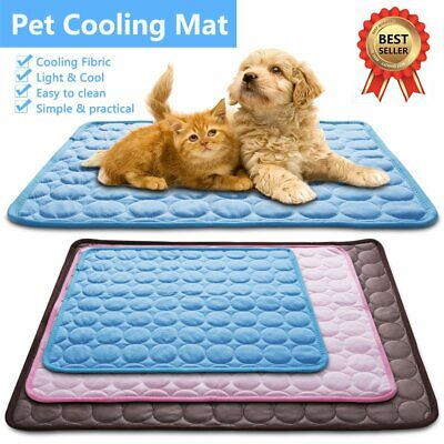 Pet New Summer Cooling Mat Cold Gel Cool Pad Comfty Cushion for Dog Cat Puppy UK