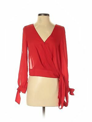Assorted Brands Women Red Long Sleeve Blouse S